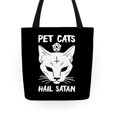 Pet Cats Hail Satan Sphynx Tote