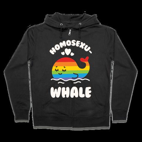 Homosexu-Whale Zip Hoodie
