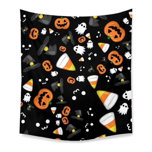 Spoopy Halloween Pattern Tapestry