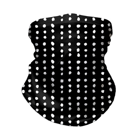 Polka Dot Black and White Minimalist Boho Pattern Neck Gaiter