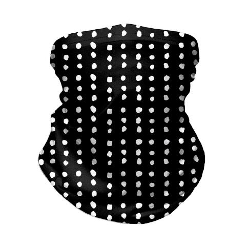 Polka Dot Black and White Minimalist Boho Pattern Neck Gaiter