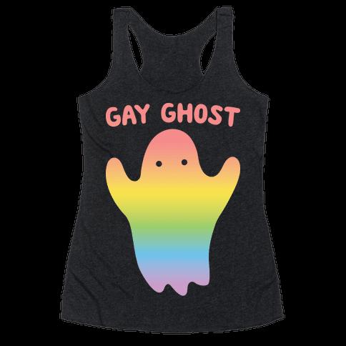 Gay Ghost Racerback Tank Top