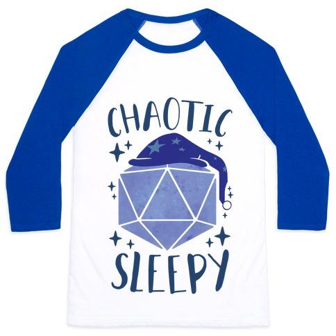 Chaotic Sleepy Baseball Tee