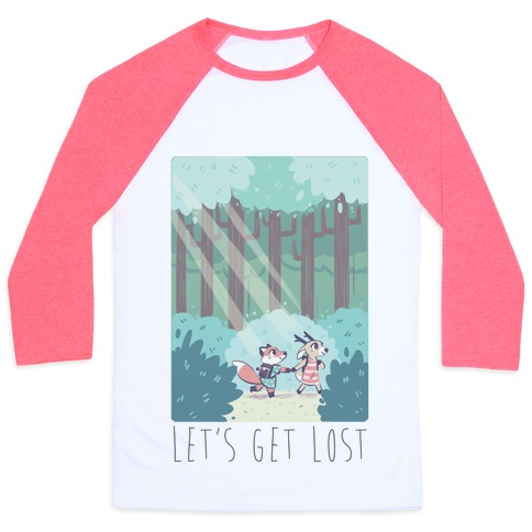 Let's Get Lost - Fox and Deer Baseball Tee