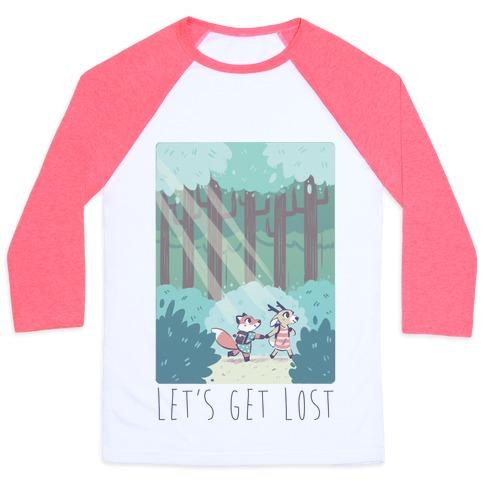 Let's Get Lost - Fox and Deer Baseball Tee