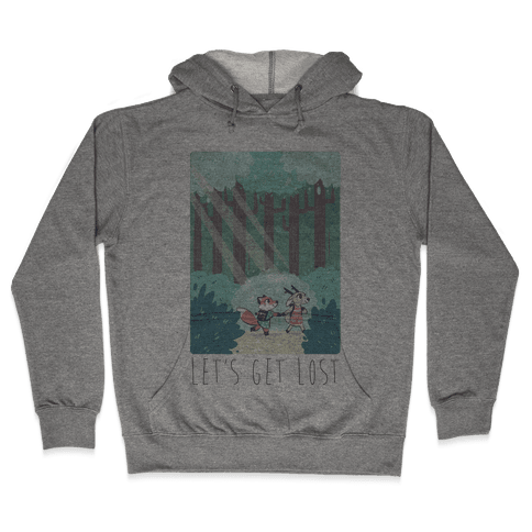 Let's Get Lost - Fox and Deer Hooded Sweatshirt