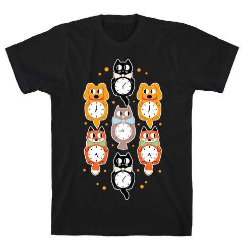 Animal Clock Pattern T-Shirt