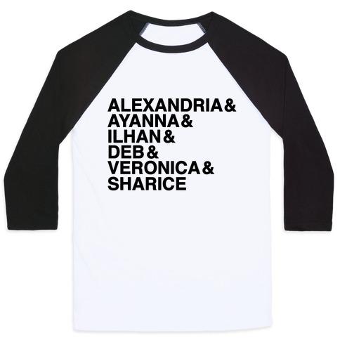 Alexandria & Ayanna & Ilhan & Deb & Veronia & Sharice Baseball Tee