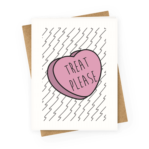 Parks and rec greeting cards lookhuman treat please greeting card m4hsunfo