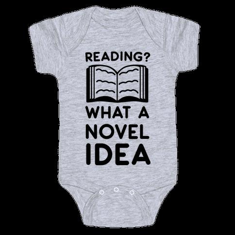 Reading? What a Novel Idea!  Baby Onesy