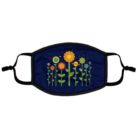 Plant Planets Flat Face Mask