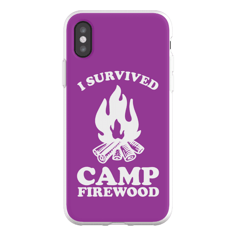 I Survived Camp Firewood Phone Flexi-Case