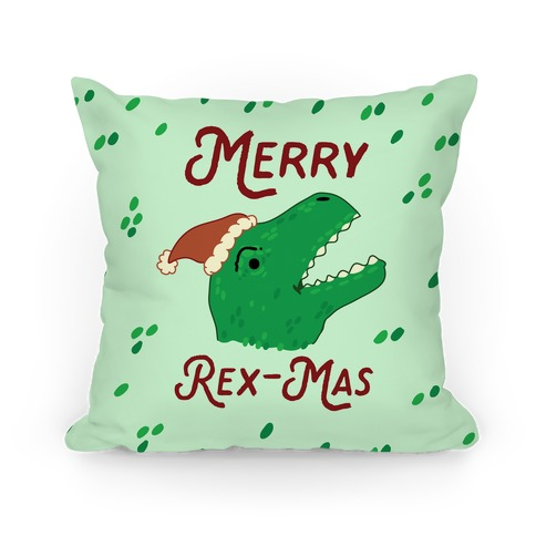 Merry Rex-mas Pillow