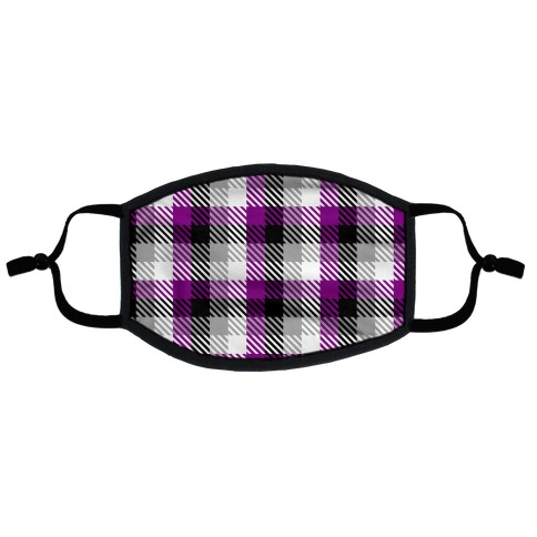 Ace Pride Flag Plaid Flat Face Mask