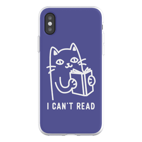 I Can't Read Cat Phone Flexi-Case