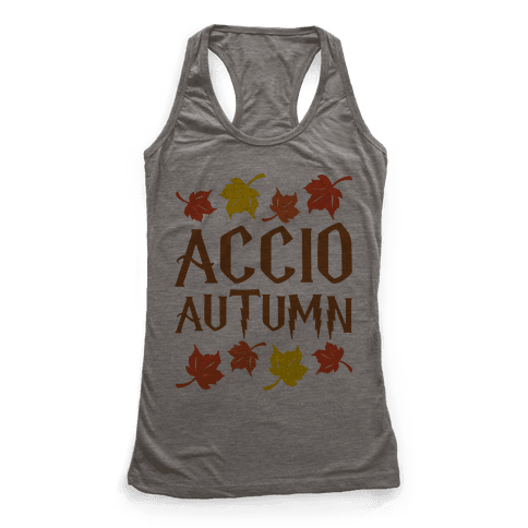 Accio Autumn Parody Racerback Tank Top