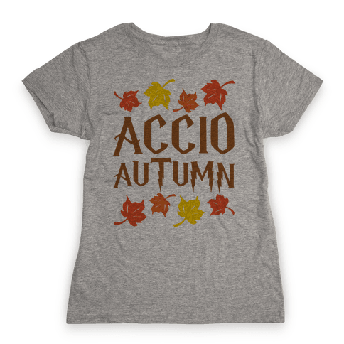 Accio Autumn Parody Womens T-Shirt