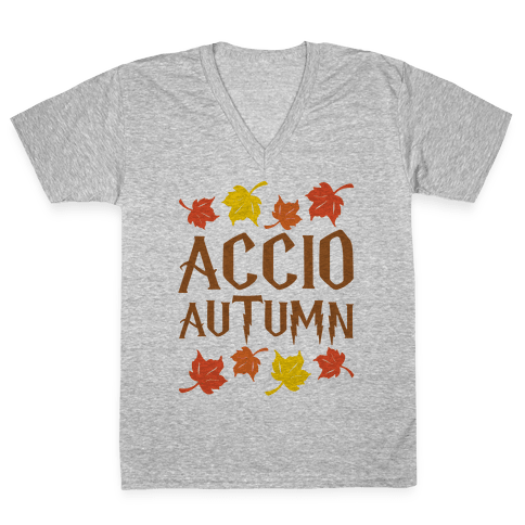 Accio Autumn Parody V-Neck Tee Shirt