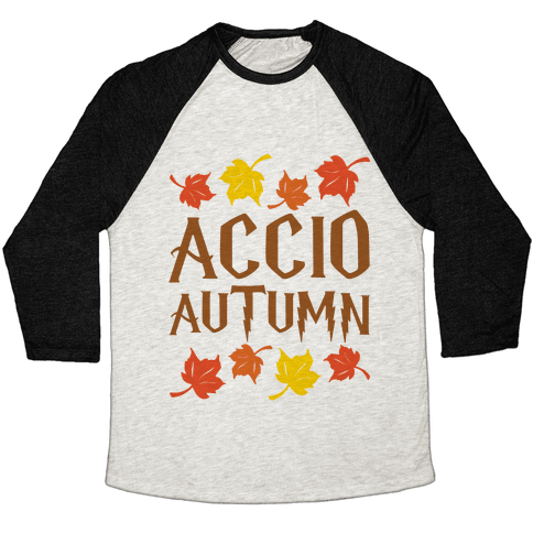 Accio Autumn Parody Baseball Tee
