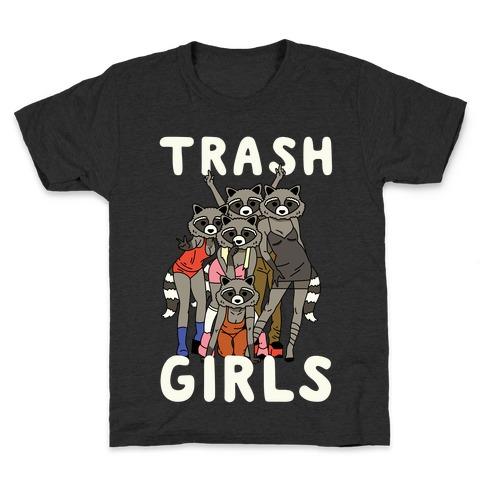 Trash Girls Raccoons Kids T-Shirt