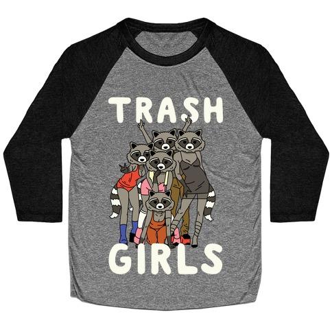 Trash Girls Raccoons Baseball Tee