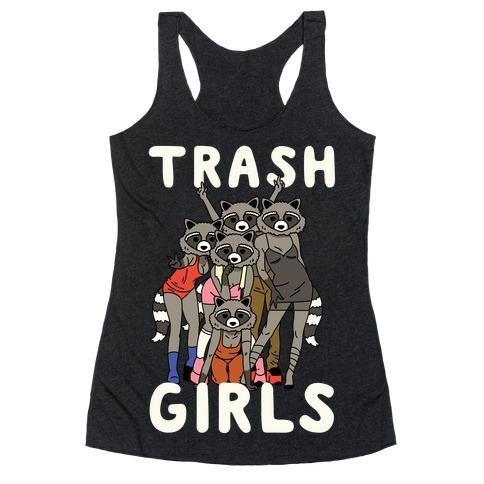 Trash Girls Raccoons Racerback Tank Top
