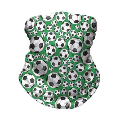 Soccer Balls Pattern Neck Gaiter