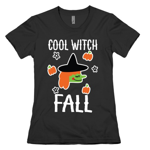 Cool Witch Fall Womens T-Shirt