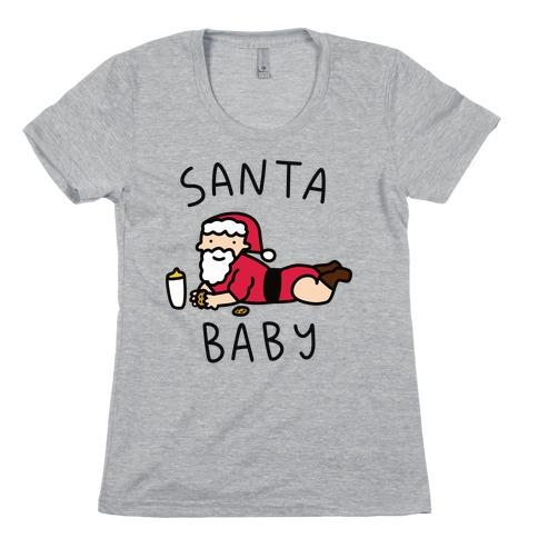 Santa Baby Womens T-Shirt