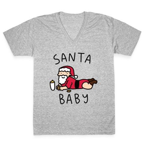 Santa Baby V-Neck Tee Shirt