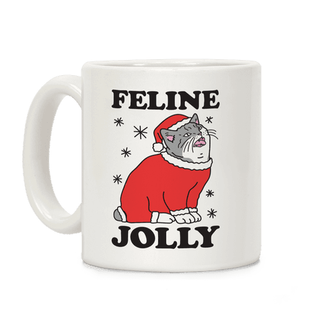 Feline Jolly Cat Coffee Mug