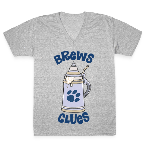 Brews Clues V-Neck Tee Shirt