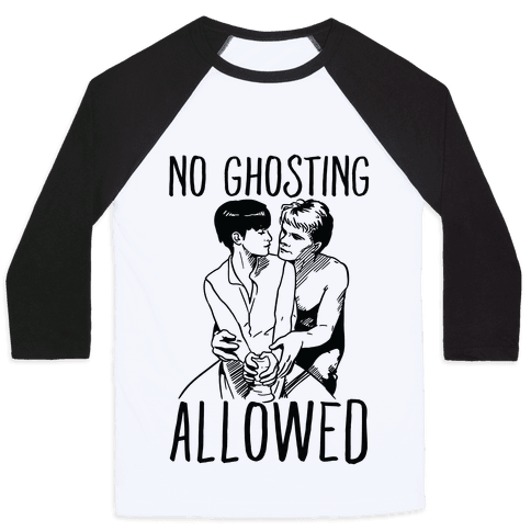 No Ghosting Allowed Baseball Tee
