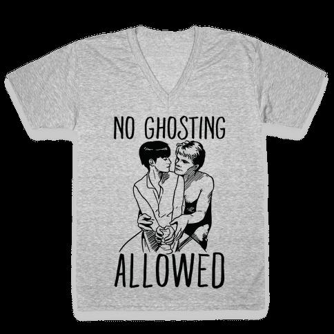 No Ghosting Allowed V-Neck Tee Shirt