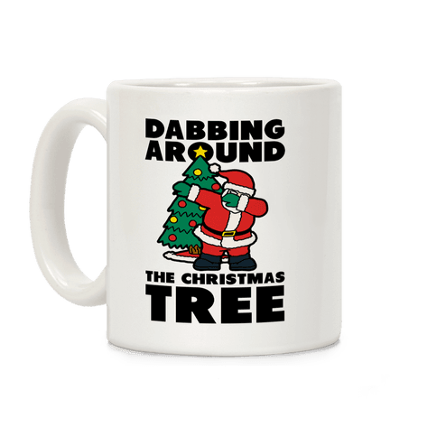 Dabbing Around the Christmas Tree Coffee Mug