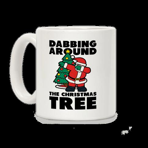 Dabbing Around the Christmas Tree Coffee Mug