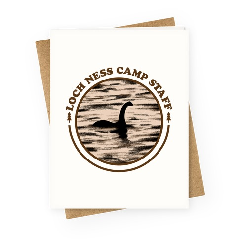 Loch Ness Camp Staff Greeting Card