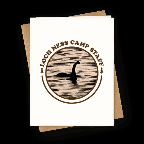 Loch Ness Camp Staff Greeting Card