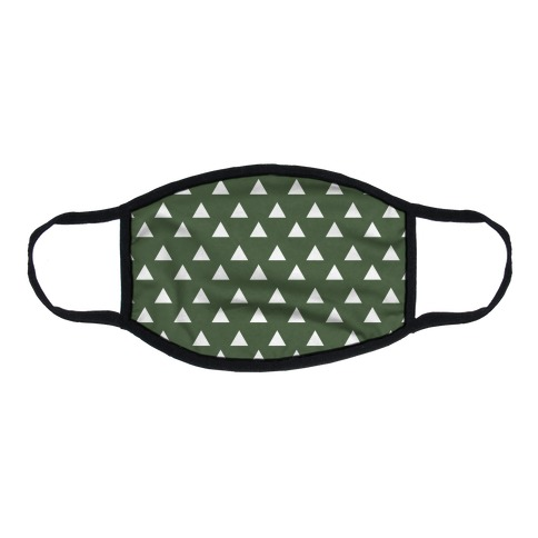 Triangle Chive and White Pattern Flat Face Mask