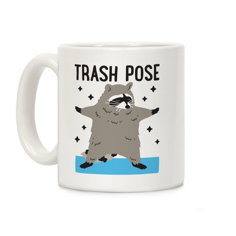 Trash Pose Raccoon Coffee Mug