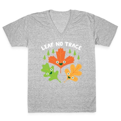 Leaf No Trace V-Neck Tee Shirt