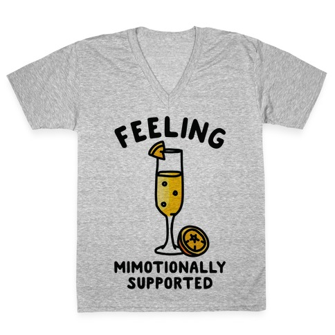 Feeling Mimotionally Supported V-Neck Tee Shirt