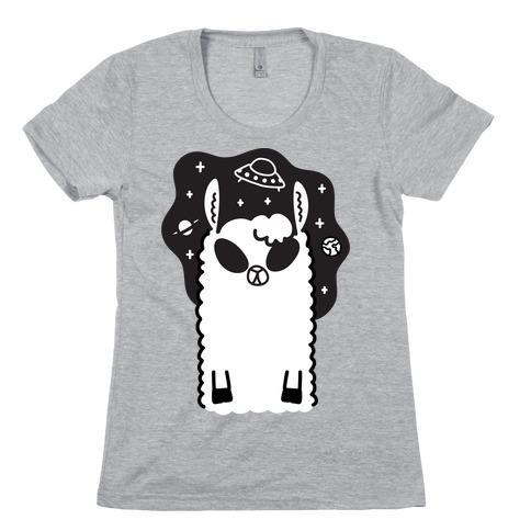 Allien - Llama Alien Womens T-Shirt