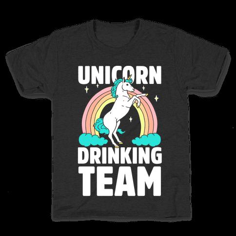 Unicorn Drinking Team Kids T-Shirt
