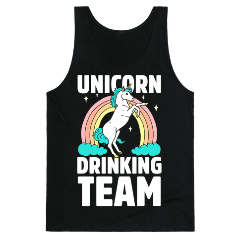 Unicorn Drinking Team Tank Top