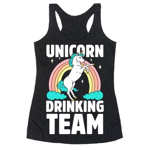 Unicorn Drinking Team Racerback Tank Top