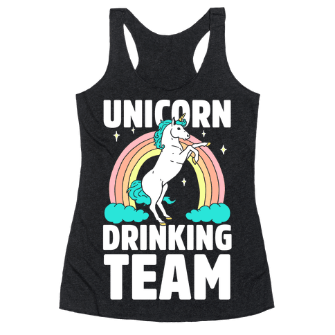 Unicorn Drinking Team Racerback Tank Top