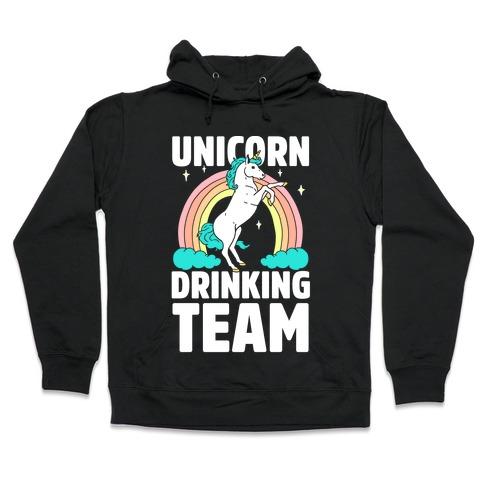 Unicorn Drinking Team Hooded Sweatshirt