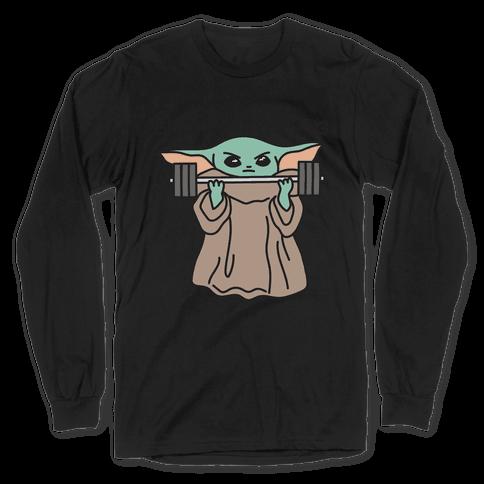 Smol But Strong Baby Yoda Long Sleeve T-Shirt
