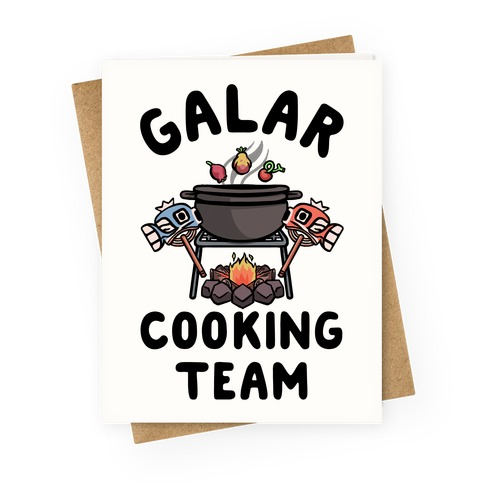 Galar Cooking Team Greeting Card